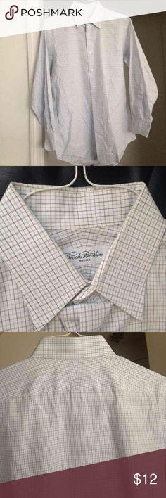 Brooks Brothers Dress Shirt Size 15-32. 100% cotton. Slight signs of wear around neckline Brooks Brothers Shirts Dress Shirts