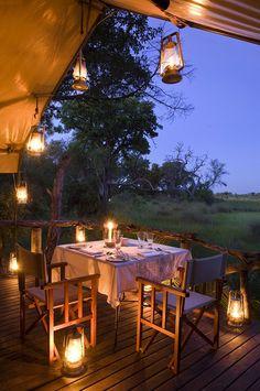 Dining Area - Nxabega Okavango Tented Camp, Okavango Delta, Botswana