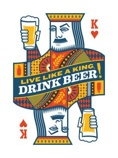"King of Beers Art Print.  www.LiquorList.com ""The Marketplace for Adults with Taste!"" @LiquorListcom   #LiquorList.com"