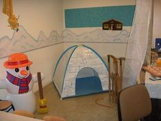 Winter corner in class. Need a wake up where kids can fish . Winter Kids, Winter Sports, Dramatic Play Themes, Snow Crafts, Winter Trees, Winter Colors, Winter Solstice, Infant Activities, Toddler Preschool