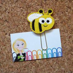Felt BEE Bookmark | Bumble Bee Paper Clip  BEE Refrigerator Magnet | Cute Brooch Pin |Organizer | Calendar | tcs Planner Accessory | 257