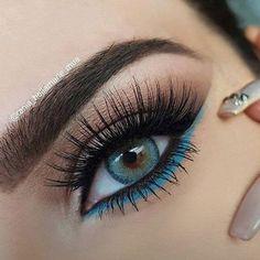 Make-up maquillage # maquillage - Augen Make-Up Makeup Eye Looks, Eye Makeup Steps, Beautiful Eye Makeup, Smokey Eye Makeup, Pretty Makeup, Skin Makeup, Eyeshadow Makeup, Makeup Monolid, 60s Makeup