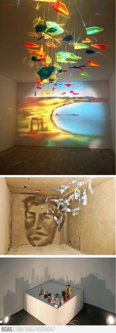 Funny pictures about Awesome shadow art. Oh, and cool pics about Awesome shadow art. Also, Awesome shadow art photos. Art Amour, Shadow Art, Shadow Play, Light Installation, Art Installations, Art Design, Art Plastique, Light Art, Light And Shadow