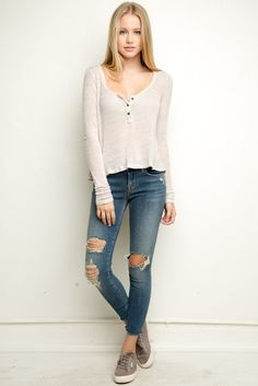 Brandy ♥ Melville | Cammie Top - Clothing (tried this one on and loved it)