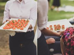 Canapes on the lawn  Photographer: Jason Vandermeer Photography