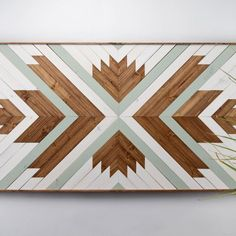 Modern Wooden Wall Art - Perfect focal point for your wall or for a space that needs something special and unique to enliven it. Each piece is made exclusively with locally sourced Black Walnut, White Oak, and Douglas Fir.