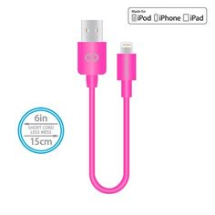 Naztech Mfi Lightning Charge and Sync USB Cable 6 inch - Pink Disney Princess Backpack, 6 Inches, Ipod, Lightning, Cable, Usb, Cabo, Ipods, Lightning Storms
