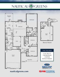 The Palmer is a 2167sq ft home built in a golfing community near the beach in Wilmington NC 3/3 plus a bonus room. http://secofconstruction.com