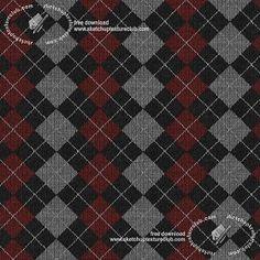 Textures Texture seamless | Wool jacquard knitwear texture seamless 19438 | Textures - MATERIALS - FABRICS - Jersey | Sketchuptexture