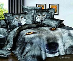 New Arrival Powerful Wolf Print Duvet Cover Sets. Bring different styling to your bedroom. Mens Bedding Sets, Queen Bedding Sets, Comforter Sets, Leopard Bedding, Animal Print Bedding, Purple Bedding, Bedclothes, Blanket Cover, Quilt Cover
