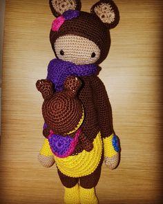 Kira the kangaroo made by Marjo V. / crochet pattern by lalylala
