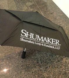 Small WindJammer Umbrella custom screened for Shumaker!