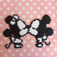 Made from mini hama/perler beads and fused together with heat. - Made from mini hama/perler beads and fused together with heat. They can also be made into fridge ma - Hama Beads Disney, Hama Beads Kawaii, Hama Beads Pokemon, Perler Bead Disney, Hama Beads Coasters, Diy Perler Beads, Perler Bead Art, Melty Bead Patterns, Pearler Bead Patterns