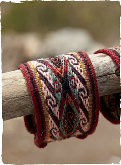 Chinchero Woven Cuff $29 | The graphic #cuff is #handwoven of vegetal-dyed wool in the #Andean village of Chinchero.