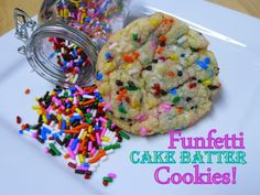 Funfetti Cake Batter Cookies-  I made these with Funfettie cake batter because I had it already and used easter cookie cutters to make it more fun for my son :) if you love lickin the cake batter off the spoon, you'll loooove these!