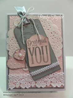 Creating with Becky's Stamping Spot, Stampin' Up!, Grateful for You, Thank You, Greeting Card