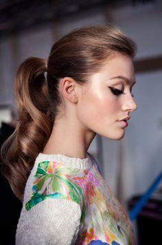 Sixties inspired beauty. #hair #makeup #eyeliner