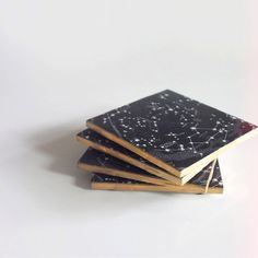 6 Constellation Coasters by OhGaud on Etsy, $30.00