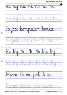 Duży podgląd | Kaligrafia, nauka pisania dla dzieci, szablony do nauki pisania liter do wydruku, szlaczki, sudoku, rysowanie, nauka liczenia