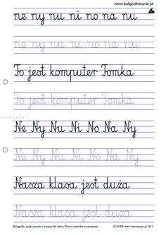 Duży podgląd | Kaligrafia, nauka pisania dla dzieci, szablony do nauki pisania…
