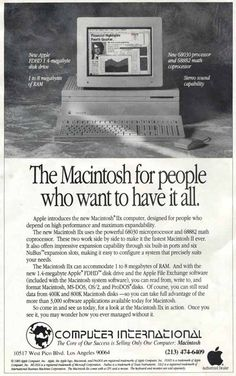 The Macintosh for people who want to have it all.
