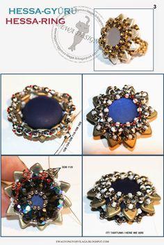 * Ewa gyöngyös világa!: Hessa gyűrű minta / Hessa ring pattern
