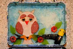 Owl Bento Lunch - 8.24.2009 by Bunches and Bits {Karina}, via Flickr