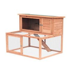 PawHut 2 Tier Wooden Large Rabbit Hutch Outdoor Animal Cage w/ Ramp Rabbit Hutch Indoor, Rabbit Hutch Plans, Large Rabbit Hutch, Rabbit Hutches, Guinea Pig Hutch, Guinea Pigs, Woodworking Projects That Sell, Woodworking Plans, Chicken Coop Pallets