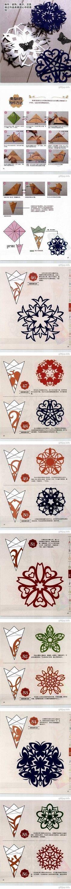 DIY Snowflakes Paper Cutting Tutorial DIY Snowflakes Paper Cutting Tutorial by diyforever