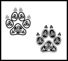 I could do this easily with henna, though a super cute tat I'd rather have the real print of my dog though
