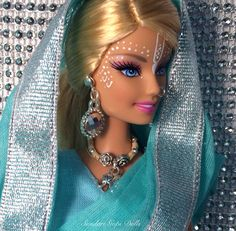 Altered barbie doll - Sundari Gopi Doll: Rasika Priya by GopiDesigns on Etsy