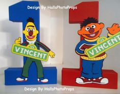 Elmo Birthday Cookie Monster centerpiece cake by Hallsphotoprops