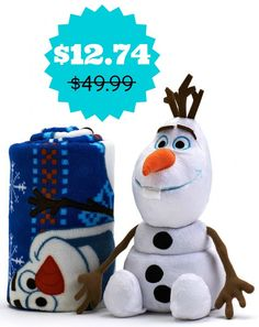 Disney Frozen Olaf Pillow & Throw Set $12.74 from $50