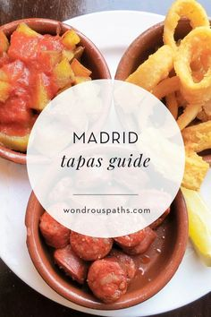 Madrileños love their tapas. It's almost impossible to walk around the streets of Madrid without running into at least a few tapas spots with outdoor seating. Madrid Tapas, Madrid Food, Madrid Restaurants, Spain Madrid, Valencia, Tapas Dishes, Madrid Travel, Toledo Spain, Spain And Portugal