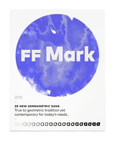 FF Mark from FontFont #typography