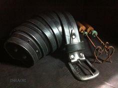 Black Mens Belt Black Leather belt by ISHAOR on Etsy, $150.00