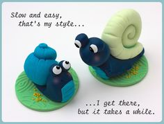 Sugar Snails Porcelana fria polymer clay masa flexible pasta francesas cake topper modelado modelling 3d figurine