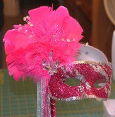 Masquerade Masks for Prom | Masquerade mask I made for Megan Rebecca's Junior Prom | DIY crafts