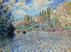 "artist-monet:  ""The Seine at Vetheuil by Claude Monet  """