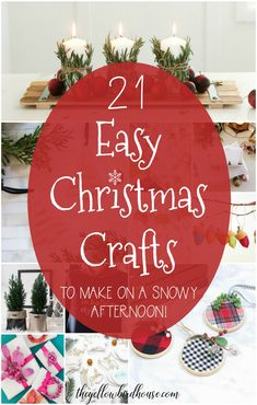 21 Easy Christmas Crafts to Make on a Snowy Afternoon. Choose one of these super sweet and easy Christmas crafts to make this holiday season. DIY Christmas ornaments, decor and gift ideas. Fun DIY ideas to help you create a gorgeous homemade Christmas. Handmade Christmas Crafts, Easy Christmas Ornaments, Homemade Christmas, Simple Christmas, Christmas Art, Holiday Crafts, Christmas Ideas, Christmas Decorations, Homemade Ornaments