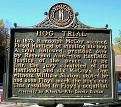 Hog Trial Marker Photo from Hatfield/McCoy feud