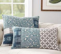 Malibu Patchwork Pillow Covers #potterybarn