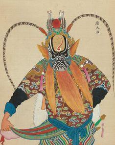 Des personnages d'opéra chinois au XIXème siècle