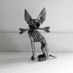 A wooden chihuahua skeleton from Mexico - wow! desiretoinspire.net