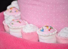 mini sock cupcakes