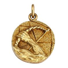 Tiffany & Co. Sagittarius Gold Zodiac Pendant Charm   See more rare vintage Drop Necklaces at www.1stdibs.com/...