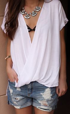 come together wrap top - ivory