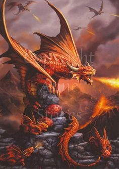 Stunning Dragon Snow Mystical Creature Wall Art Large Poster /& Canvas Pictures