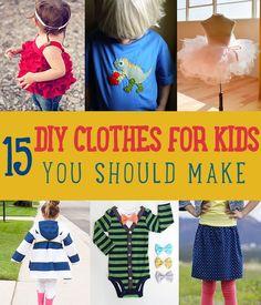 15 DIY Clothes for Kids You Should Make