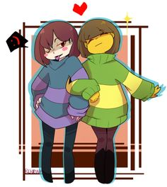 Chara and Frisk ~ Undertale